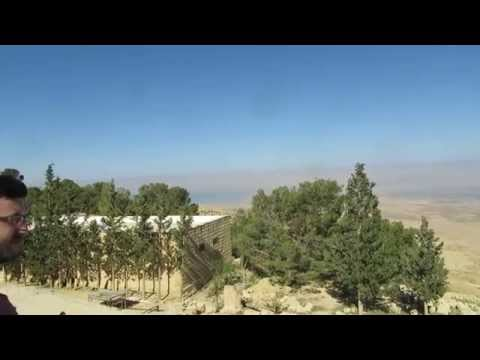 Mount Nebo -Jordan - view of Israel, Jordan Valley, Dead Sea, Jericho and Jerusalem