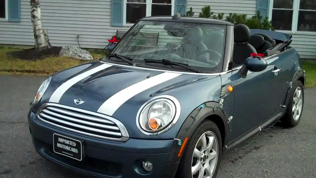 Used 2009 Mini Cooper Convertible In Horizon Blue For Portland Me You