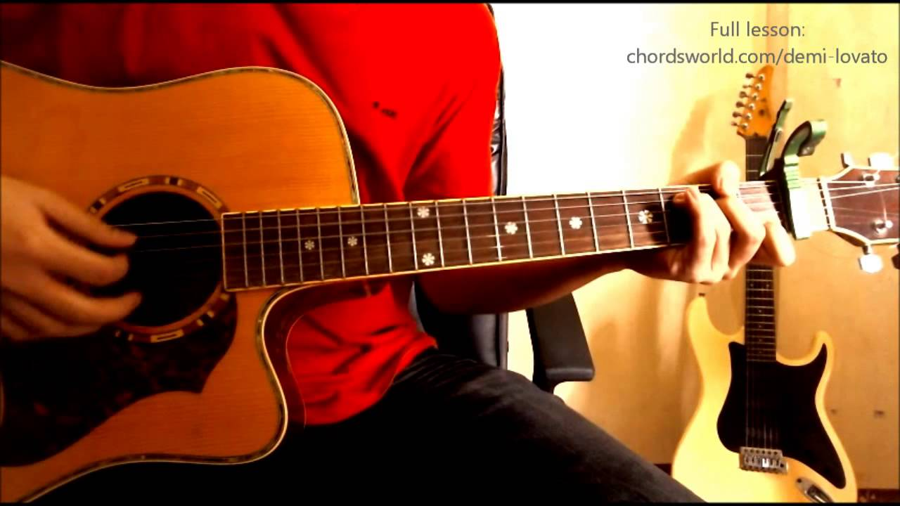 Made In The Usa Chords Demi Lovato Chordsworld Guitar Tutorial