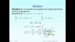 Lecture: Multi Dimensional Gradient Methods in Optimization -- Example Part 1 of 2