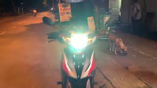 Tăng sáng đèn xe máy Wave S bằng bóng đèn Led XHP70 V70 2019