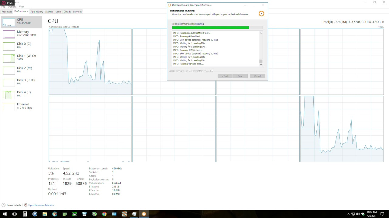 UserBenchmark CPU issue
