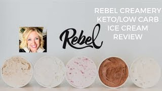 Rebel Creamery low carb ice cream Review and taste test!