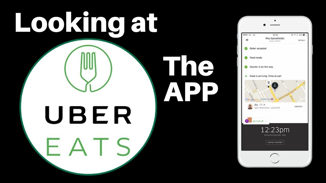 Looking at the UberEats Drivers app