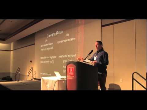 Joshua Sutterfield 2016 Myaamiaki Conference.