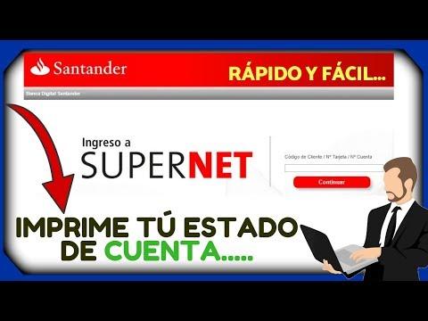 Como Consultar E Imprimir El Estado De Cuenta De Santander 2019 👇💪