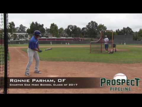 Ronnie Parham Prospect Video, OF, Charter Oak High School Class of 2017