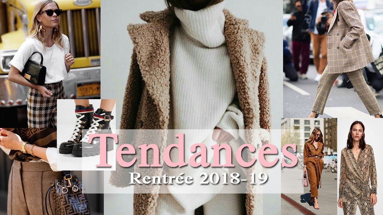 b8750b9222f TENDANCES DE LA RENTREE 2018-2019 - YouTube