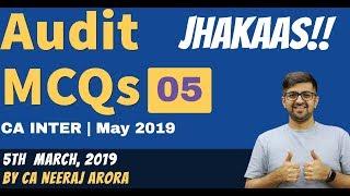 CA Inter Audit MCQ 05 | CA Inter Audit Classes | MCQs NEERAJ ARORA