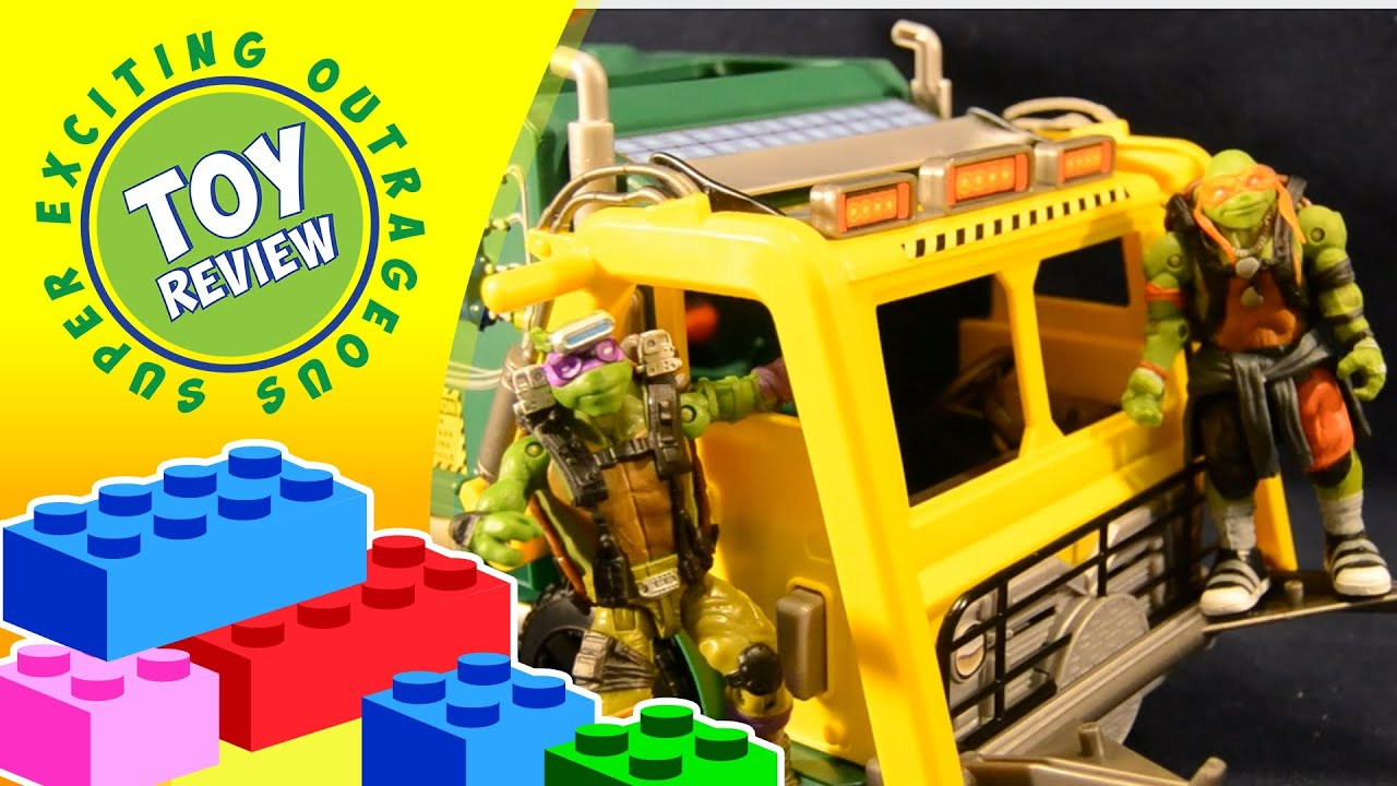 Turtle Tactical Truck TMNT Out of the Shadows Toy Review