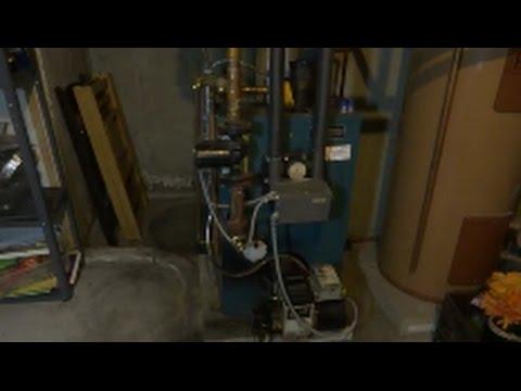 burnham oil fired steel boiler annual service/ cleaning