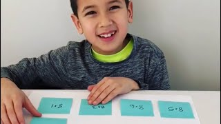 Sticky Note Math Facts - learning multiplication activity - Math Activities for Preschoolers