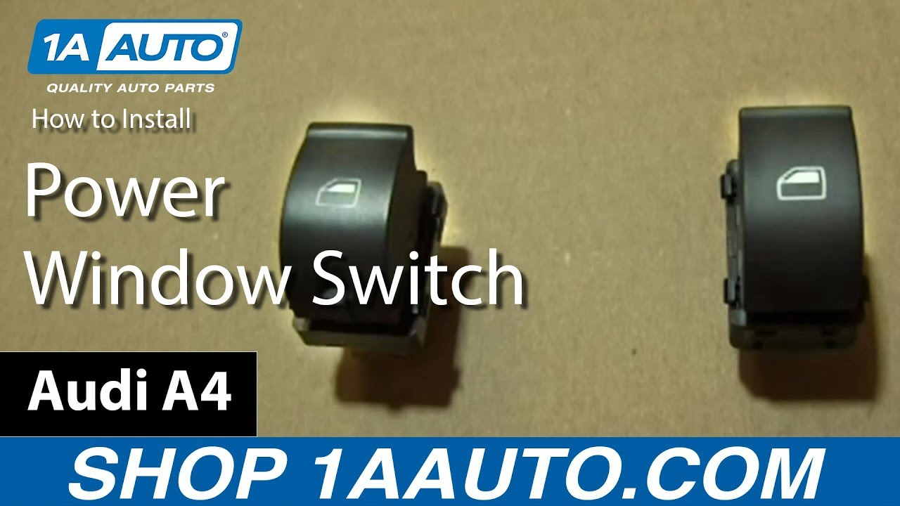 How To Install Single Power Window Switch On The Passenger Door Of Diagram Wiring Wira An Audi A4