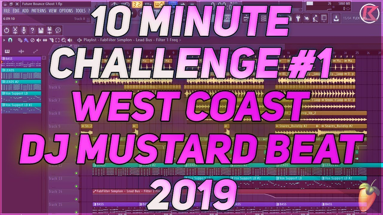10 Minute Challenge #2 | West Coast | DJ Mustard Beat In 10 Minutes | 2019