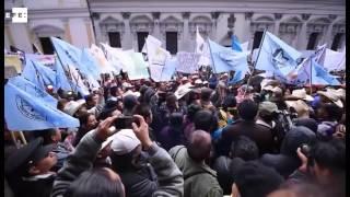 Ciudad de Guatemala se paraliza por protesta de miles de campesinos
