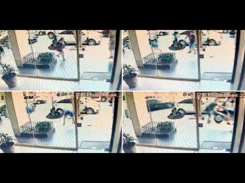 Mirá el video del violento robo al ex Gran Hermano Agustín Pappa.