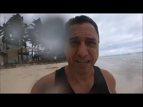 Tormenta Tropical Gamma, Playa del Carmen, Playa Mamitas sin arena e inundada