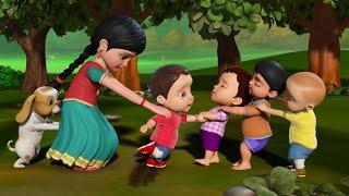 பூப்பறிக்க வருகிறோம் - Traditional Tamil Games | Tamil Rhymes for Children | Infobells