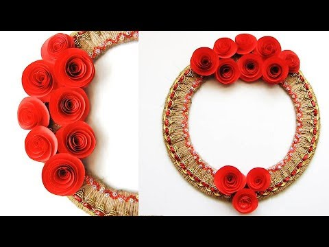 Quick and easy Christmas decorations | Wall Hanging Toran Making Craft At Home | ll