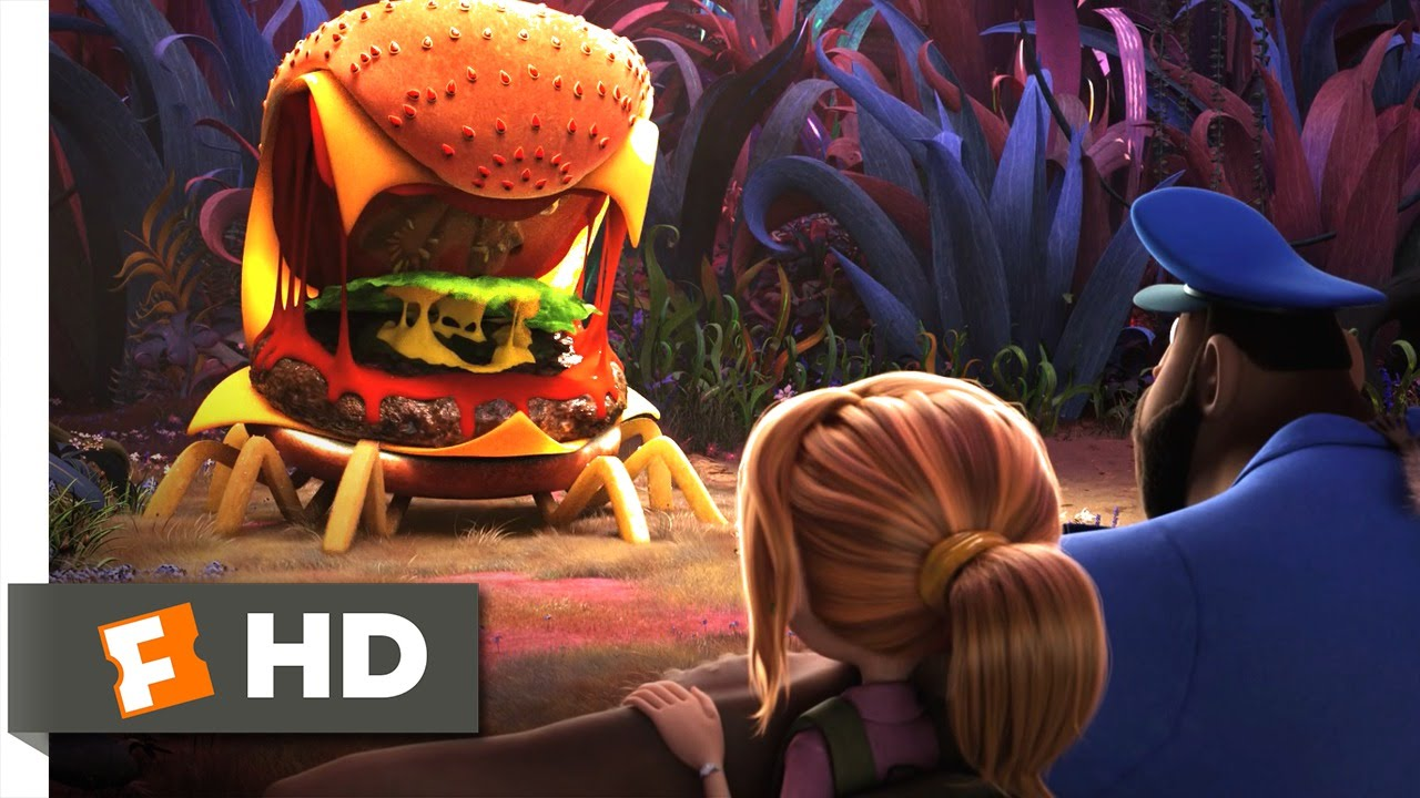 Cloudy with a Chance of Meatballs 2  Cheese Spider Attack Scene