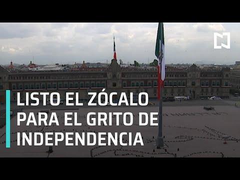 Listo el Zócalo de la CDMX para ceremonia del Grito de Independencia - Paralelo 23