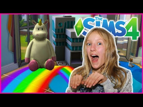 Pink Fluffy Unicorns Dancing on Rainbows SIMS 4