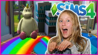 Pink Fluffy Unicorns Dancing on Rainbows SIMS 4