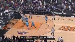 NBA 2015 - Oklahoma City Thunder vs Phoenix Suns - 2nd Qrt - NBA LIVE 15 PS4 - HD