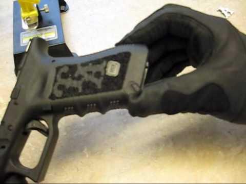 Glock 17 Racegun Part 1 Grip Stipple With Stencils Youtube