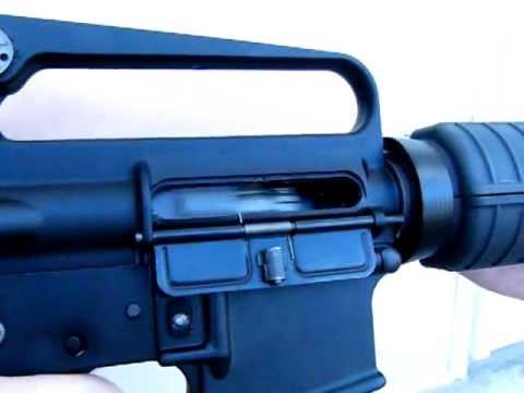 VIPER TECH M16 Semi-auto & 3-Round Burst FIRING Slow Mo (200 fps)