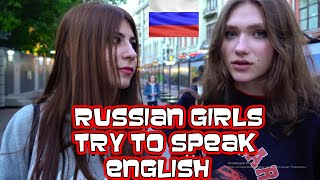 Russian Beautiful Girls Try To Speak English   Russia Moscow 2021