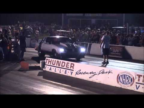 The Cutty from Street Outlaws making a fast wheels up pass!