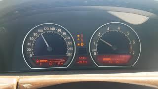 Bmw 750i e65 consumption 80km/h, 90 and 100 km/h. Average around 9 liter. V8 petrol engine, 370PS