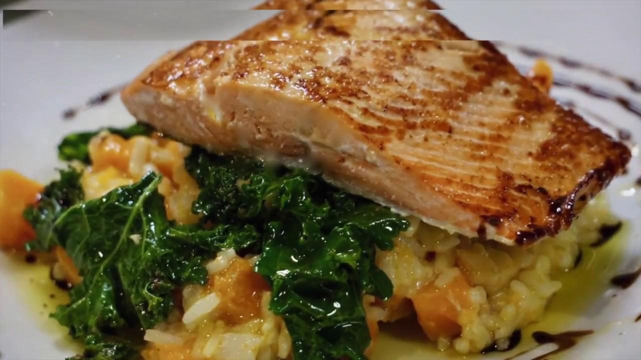 more fake wild salmon on a restaurant menu la serre albany youtube