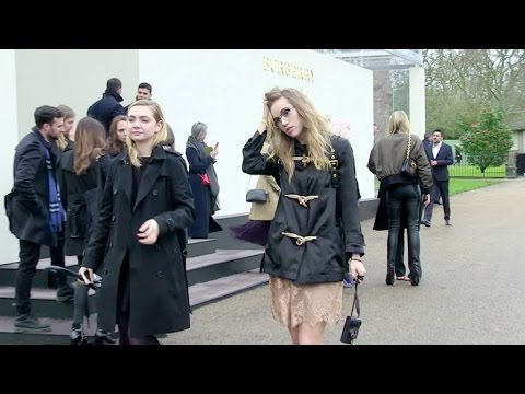 Suki Waterhouse, Alexa Chung,  Olivia Palermo and more at the Burberry Fashion Show in London