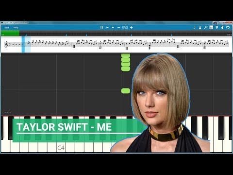 Taylor Swift ME!  - How to Play (Piano Tutorial) thumbnail