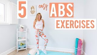 5 EASY Abs Exercises | Lazy Girl Workout