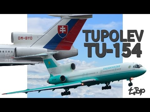 Tupolev TU154 Aircraft Landings & Takeoff London Stansted Airport Ty-154 Slovak Noisy Planes