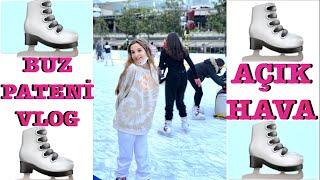 Açık Havada Buz Pateni Vlog. Ecrin Su Çoban
