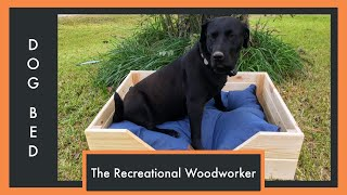 Build a Wooden Dog Bed - How To - With Downloadable Plans