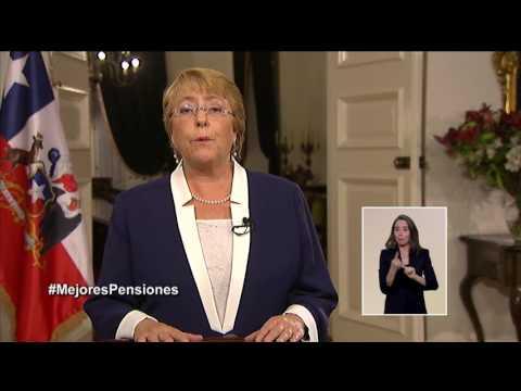 Cadena Nacional de la Presidenta Michelle Bachelet: pensiones (12/04/2017)