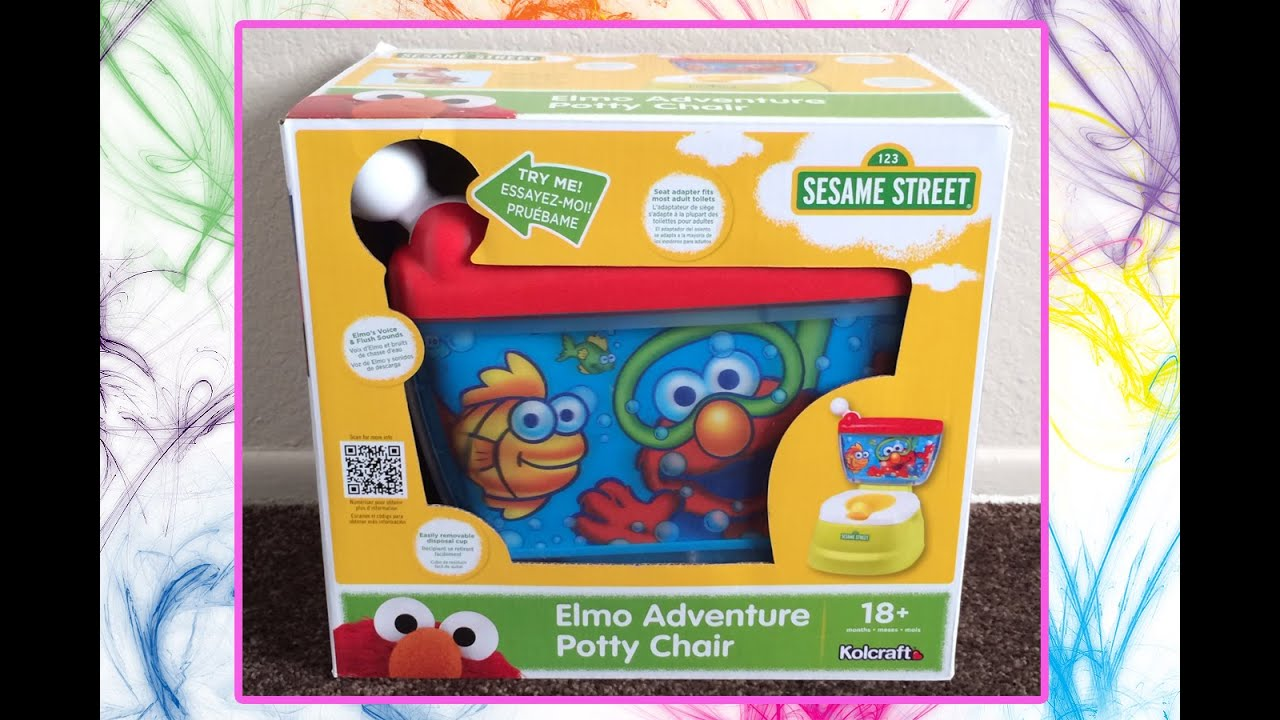 elmo potty chair wood new design sesame street adventure youtube