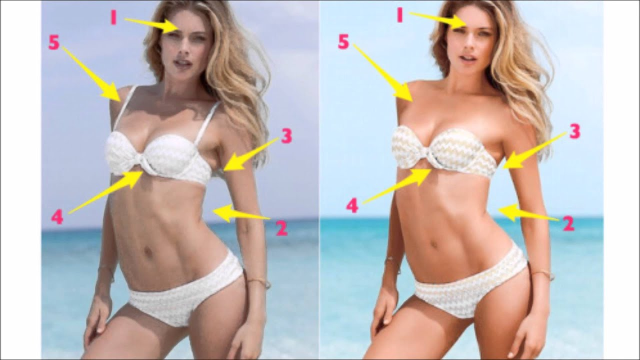 VICTORIAS SECRET MODELS BEFORE PHOTOSHOP YouTube - This shocking video shows how photoshopped models are
