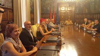 María Chivite reúne a sus consejeros en la primera sesión del Gobierno de Navarra