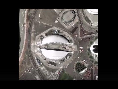 Стадионы чемпионата мира по футболу со спутников