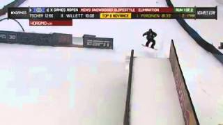 2013 x games aspen torstein horgmo run 1 men s snowboard slopestyle elimination