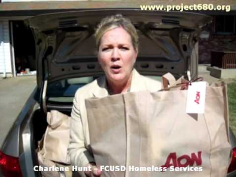 District Liaison for Homeless Services says thank you to Aon International in Sacramento