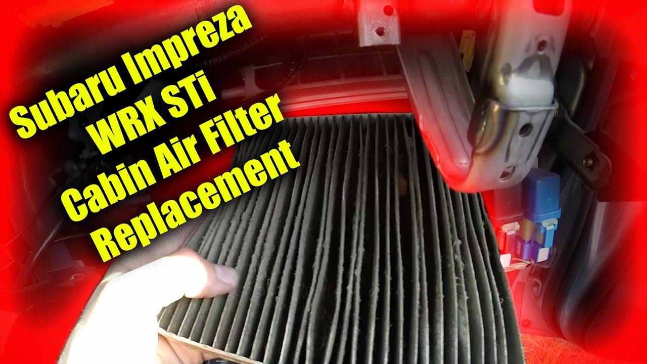 2002 2007 subaru impreza wrx and sti cabin air filter for Cabin air filter subaru forester