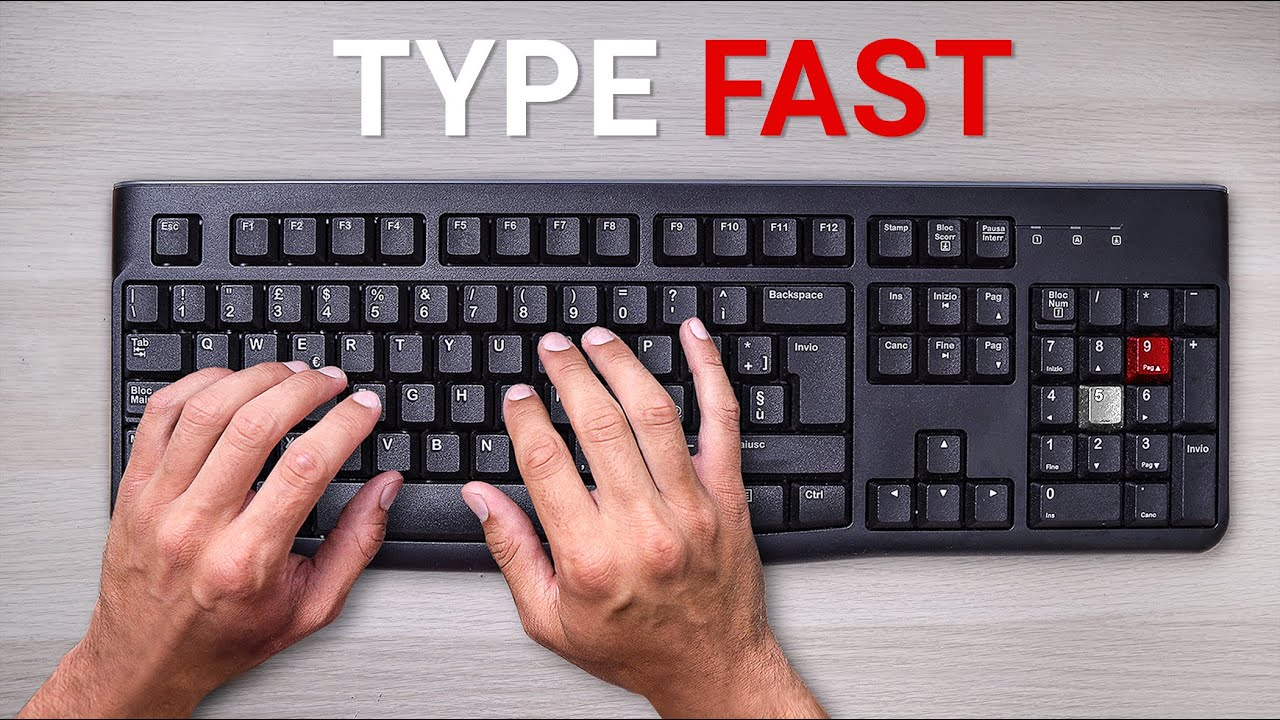 Learn to Type Fast (95 Words per Minute)