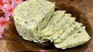 Домашний Сыр на кефире с Зеленью Идеальный рецепт Сыра Очень простой и очень вкусный